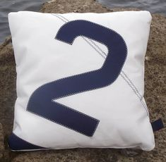 sail number or letter sailcloth cushions by paul newell sails | notonthehighstreet.com