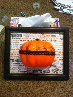 Pumpkin with bling.
