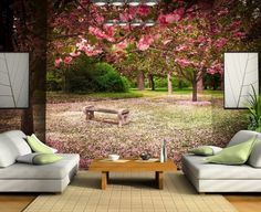 Ağaç Manzara Duvar Kağıdı  #3boyutlu #Ağaç #Manzara #Duvarkağıdı