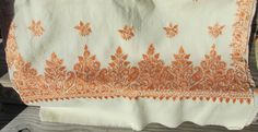 Beautiful Vintage Kashmir Pashmina Shawl Hand Embroidered by Neatcurios on Etsy