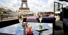 Les Ombres restaurant, great view of Eiffel Tower 27, quai Branly