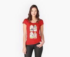 'La casa de papel Nairobi Dali mask' Fitted Scoop T-Shirt by MimieTrouvetou Loose Fit, Fashion Designer, Black Edition, Tshirt Colors, Chiffon Tops, Cool Girl, V Neck T Shirt, People, Classic T Shirts