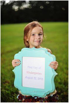 1st day of kindergarten photos