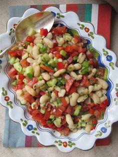 La cuisine d'ici et d'ISCA: Salade de haricots blancs aux crudités