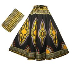 Decoraapparel Womens African Dashiki Maxi Skirt Long High Waist Skirt One Size Black Light Yellow 42 Long >>> Examine this amazing product by going to the link at the picture. (This is an affiliate link). Dashiki Skirt, Ankara Skirt, Elastic Waist Skirt, High Waisted Skirt, Modest Fashion, Skirt Fashion, Indian Skirt, African Dashiki, Long Maxi Skirts
