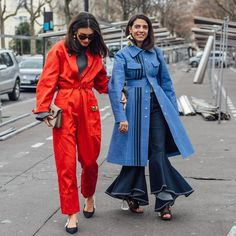 """Style.com (@styledotcom) on Instagram: """"This is how Italians do #PFW. @dilettabonaiuti and @georgia_tal pound the pavements in…"""""""