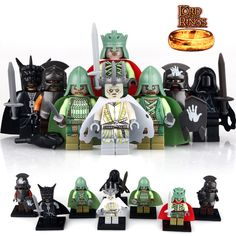26Pcs Lord of The Rings Mordor Orc Soldier Of The Dead Custom Lego Minifigures