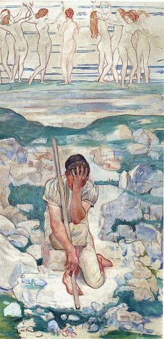 The Dream of the Shepherd (Der Traum des Hirten) Ferdinand Hodler (Swiss, Bern 1853–1918 Geneva)