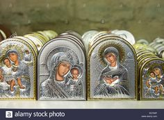 Download this stock image: Religious icons in Church of St Saviour in Chora, the Kariye Museum St Savior in souvenir gift shop, Istanbul Republic of Turkey - ED794P from Alamy's library of millions of high resolution stock photos, illustrations and vectors.