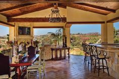 Tuscan-style home — Designer Susan Spath of Kern & Co.'s classic style comes through with elegance and comfort