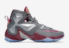 reputable site 421b1 9b761 Nike LeBron 13 Opening Night Colorway  Cool Grey Wolf Grey Deep Garnet  Release Date  November 2015