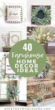 40 Farmhouse Home Decor Ideas for your house. I put these together as inspired by Joanna Gaines and some are DIY. These ideas are for your living room and kitchen and most are great on a budget. These are Farmhouse home decorating ideas, some rustic. How to decorate in a farmhouse style. #diyfarmhouse #farmhousehomedecor #farmhousedecor #farmhousedecorating #rustichomedecor #rustichomedecorating Farmhouse Bedroom Decor, Farmhouse Style Kitchen, Country Farmhouse Decor, Farmhouse Homes, Farmhouse Chic, Modern Farmhouse Style, Farmhouse Style Decorating, Porch Decorating, Rustic Style