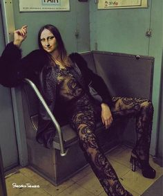 Amanda Wellsh Plays Dress up in the Subway for Vogue Portugal Photographer An Le captured the gorgeous Amanda Welsh in this editorial entitled 'Underground' for Vogue Portugal. In this special, closed to the public NYC train station, An Le, fashion editor Fashion Shoot, Editorial Fashion, Fashion Models, Dress Fashion, Models Style, Vogue Editorial, Magazine Editorial, Vogue Fashion, Fashion Outfits