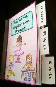 Mini book for regular AR, ER, and IR verbs in the present tense https://www.teacherspayteachers.com/Product/Regular-AR-ER-and-IR-Verbs-Mini-Book-2152666