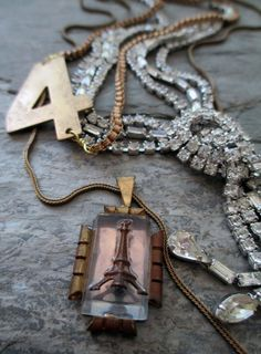 city-of-light-vintage-assemblage necklace by the French Circus