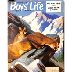 Cover Print of Boys Life Magazine, January 1954   $8.80
