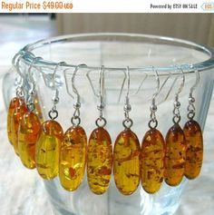 Your BEST GIFT Natural Honey Amber Earrings Oval dangle drop earring yellow honey bee sterling silver amber jewelry eco wedding gift bridal