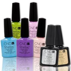 CND Shellac UV Nail Gel Polish SWEET DREAMS Collection 5 Colors Base Top Coat Price: $105.99