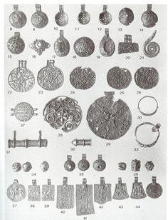 Buskerud, Norge: sølv og guld (evt. bronze?) Bronzer, Ancestry, Archaeology, Norway, Vikings, Scandinavian, Celestial, Period, Jewellery