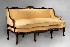 18th C. French Provincial Régence Canape or Sofa -- Closest thing I've seen to mine. Maybe mine's 18th century too? They want $17,500 for this one!