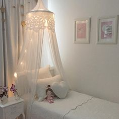 Lanna canopy a perfect addition to any little girls bedroom. Baby Bedroom, Girls Bedroom, Bedroom Decor, Trendy Bedroom, Girls Canopy, Bedroom Ideas, My New Room, My Room, Ideas Dormitorios