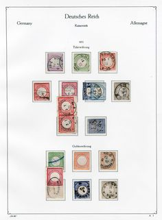 Shields - mostly used and almost complete collection Michel 1 / 30, mixed on preprinted pages.  Dealer Württembergisches Auktionshaus  Auction Minimum Bid: 200.00EUR