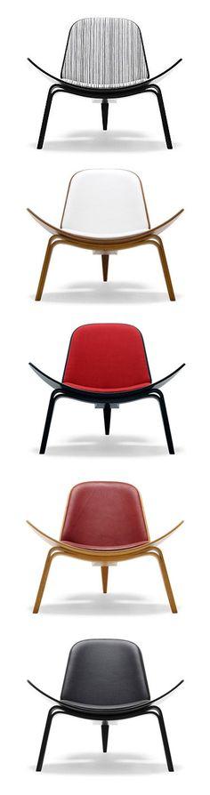 Wegner Shell Chair Set by Hans Wegner Modern Furniture, Furniture Design, Hans Wegner, Interior Inspiration, Shell, Chair, Home Decor, Decoration Home, Room Decor