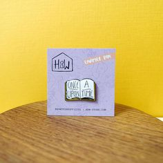 Once Upon A Time Book Enamel Pin Badge: 25mm bibliophile