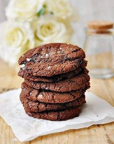 Salted Chocolate Chips  Nutella Cookies