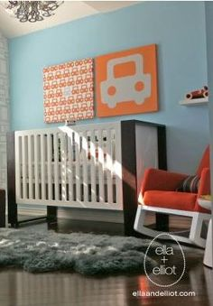 fun nursery art!  This would look so cool in Hudson's room.  Or maybe a giant elephant!