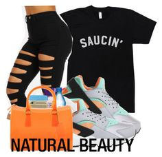 by baby-trilldolls on Polyvore featuring polyvore, fashion, style, NIKE, Carmex and Furla