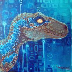 by rvanni_arts Blue Jurassic World, Jurassic World Dinosaurs, Jurassic World Fallen Kingdom, Fantasy Creatures, Mythical Creatures, Jurassic Movies, World Movies, Falling Kingdoms, Prehistoric Creatures