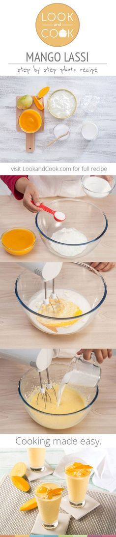 MANGO LASSI RECIPE Mango Lassi recipe (#LC14045) make of mangoes and yogurt makes for a good cooling drink in the mango season.