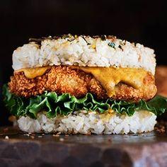 Chicken Katsu Curry Rice Burger