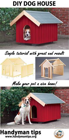 DIY Dog House! Super easy tutorial for making a nice DIY dog house! Show love to your pet and make a home for him with your own hands!