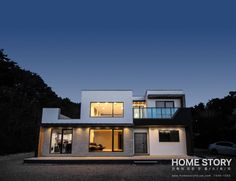 똑똑한 공간 분할이 모던하고 예쁜 집을 만들어낸다 (출처 Haeni) Interior And Exterior, Multi Story Building, House Design, Architecture, House Styles, Home Decor, Health, Fitness, Lighting Design