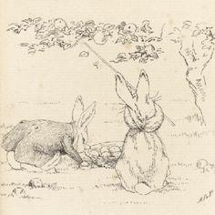 Original bunny sketch by Beatrix Potter