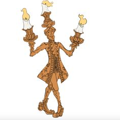 Lumiere The Enchanted Candlelabrum From Beauty And Beast