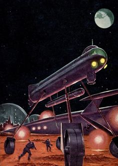 Ed Emshwiller - City on the Moon, 1958. http://gastornis.tumblr.com/post/123389247450/sciencefictiongallery-ed-emshwiller-city-on
