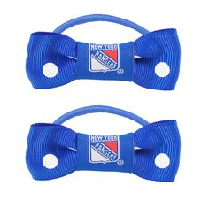 New York Rangers NHL Bow Pigtail Holder