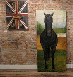 Horse Original acrylic painting on reclaimed by johnandgigiathome, $895.00   Want....want!