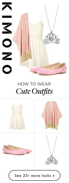 """""""Cute spring outfit"""" by indianna28-2002 on Polyvore featuring Topshop, Melissa McCarthy Seven7, Chloé, Disney, kimonos and plus size clothing"""