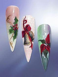 Christmas nails from Madda Miron Nail Art Noel, Holiday Nail Art, Xmas Nails, Winter Nail Art, Christmas Nail Art, Winter Nails, Diy Nail Designs, Winter Nail Designs, Christmas Nail Designs