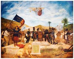 """Le serment des ancêtres"""" Painting commemorating the Declaration Of Independence of Haiti in Gonaives in 1804 #haiti #haitian #1804 #indepence #freedom #ayiti #history #mupanah"""