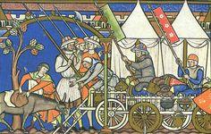 Maciejowski Bible C13th Would love to get to raid that cart