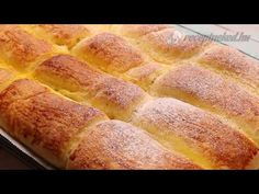 Bukta -Hungarian Yeast Pastry with Jam - Lekvaros Bukta - YouTube Hot Dog Buns, Hot Dogs, Bread, Youtube, Desserts, Food, Tailgate Desserts, Deserts, Brot