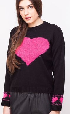 Trending heart acrylic cute pullovers best for winters via Valentine Day Special, Latest Fashion, Jumper, Pullover, Detail, Heart, Cute, Sweaters, Stuff To Buy