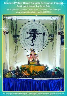 Rajshree Patil Home Ganpati Picture 2016. View more pictures and videos of Ganpati Decoration at www.ganpati.tv