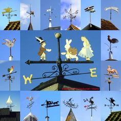 "Weather-vanes are one of my favorite subjects... being very photogenic, seen frequently on many buildings and not too difficult to frame in the camera at the telephoto end of a zoom lens.. here's a small selection from the UK and France where they are called ""girouettes"". Image © Ed Buziak / Alamy"