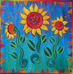 A spectacular quilt by Frieda Anderson.